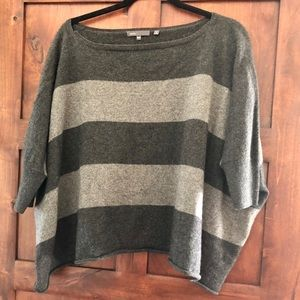 Vince cashmere batwing oversized sweater xs/s grey